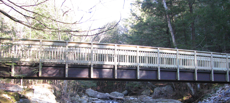 Falls of Lana Trail Bridge, Salisbury, VT